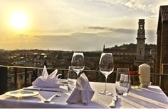 With the arrival of the Summer time, the Due Torri Hotel has opened the exclusive Panoramic Terrace with a breathtaking view on the many treasures of Verona. The Panoramic Terrace will be a unique location where our welcome Guests will have the opportunity to taste an inviting pre-Opera buffet dinner or just enjoy a tempting Italian cocktail while admiring the wonderful panorama.