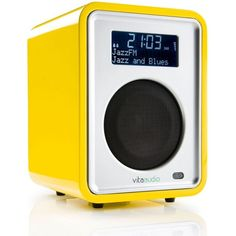 Ruark Audio R1 DAB/FM Radio - Limited Edition Yellow Lacquer ($285) ❤ liked on Polyvore