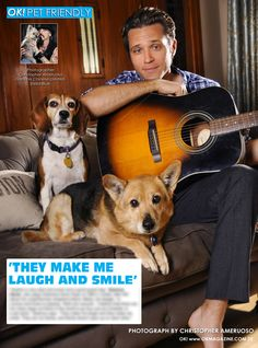 This week in my OK! Pets in OK! magazine we feature Seamus Deves from the hit show 'Castle' with his two rescues. Pick up a copy on stands today!