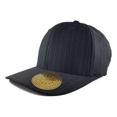 787d0fc5609 Fashionable and stylish pinstripes. Hard buckram. Matching undervisor  color. Blank Hats