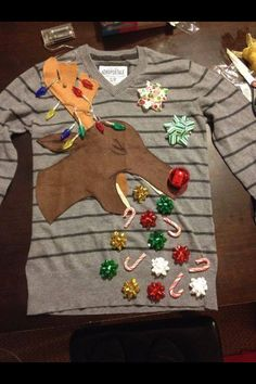 I would love to make this! Rein deer puking candy canes! That's the Christmas spirit !