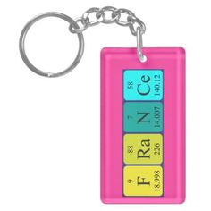 #name - #France periodic table name keyring keychain