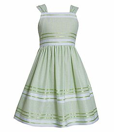 Bonnie Jean 2T6X LurexPencilStripe Linen Dress #Dillards