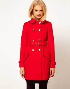 adorable red coat from asos $158
