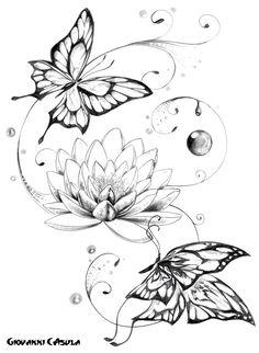 Image from http://2.bp.blogspot.com/-zLUG1_6hwaw/UdMpkVIXjBI/AAAAAAAAA-M/iDlgtTahhig/s1200/giovanni+casula+butterfly+farfalle+fiore+di+loto+lotus+flower+tattoo.jpg.