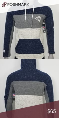 Shop Men s NFL Blue size L Lightweight   Shirt Jackets at a discounted  price at Poshmark. Description  New Navy Blue White Grey NFL Rams Pull-Over  Hoodie. bcf033174