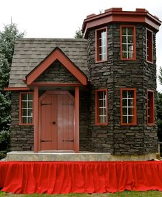 Faux stone siding panels truly make this an Enchanted Castle of Dreams.