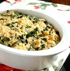 rice and greens casserole