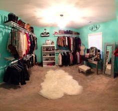 Bedroom into walk in closet!
