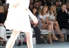 Olivia Inge and Laura Whitmore attend the Bora Aksu show during London Fashion Week Spring Summer 2015 on September 12, 2014 in London, England.