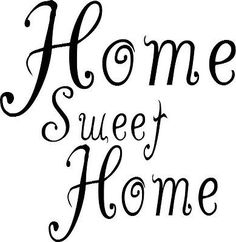 Home sweet home wall art sticker from £3.99