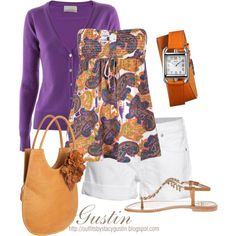 A fashion look from February 2012 featuring Element tops, FTC Cashmere cardigans and True Religion shorts. Browse and shop related looks. Date Outfit Casual, Casual Outfits, Cute Outfits, Fashion Outfits, Summer Brunch Outfit, Summer Outfits, Style Me, Cool Style, Purple Cardigan