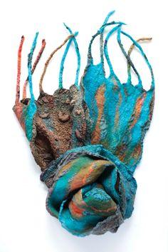 "Superfine Australian merino wool, mulberry silk, ponge silk fabric. Length without fringe 63"" (160 cm) Length with fringe 77"" (196 cm) Width 8 3/4"" ( 22 сm) Weight 2,9 oz (82 gm)"