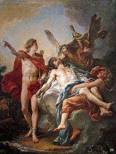 hadrian6: Apollo and Sarpedon. 1781. Jean Simon Berthelemy. French 1743-1811. oil/canvas. http://hadrian6.tumblr.com
