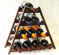 Wine Rack Wood -10 Bottles Hardwood Stand -Walnut sfDisplay http://www.amazon.com/dp/B002MSJHM0/ref=cm_sw_r_pi_dp_.aRZtb05BSS2XMR7