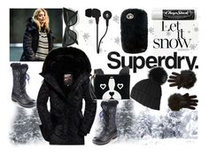 """The Cover Up – Jackets by Superdry: Contest Entry"" by sparklemeetsclassic ❤ liked on Polyvore featuring Superdry, Nature Breeze, Black, Skullcandy, Kate Spade, LULUS, Chapstick, Juicy Couture and MySuperdry"