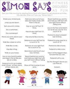 Ways to make Simon Says more physical