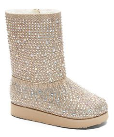 These are not coming due to mix up of order :( Had to order different boots.  Got this for E & A, will wear with holiday dresses   Look at this #zulilyfind! Gold Amber Boot by Carrie #zulilyfinds