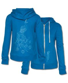 Blue Peacock Hoody from Soul-Flower. I want this!