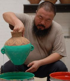 Ai Weiwei, Making a Coloured Vase on ArtStack #ai-weiwei-ai-wei-wei #art