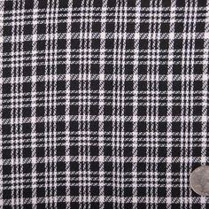 italian black and white plaid wool blend, kids' blankets?