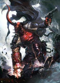 "damonx on Twitter: ""Hellboy par InHyuk Lee https://t.co/VQoGPrcSqb"""