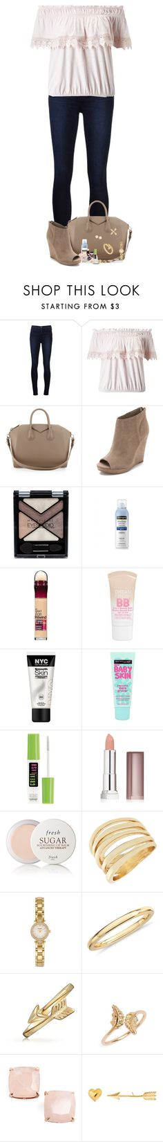 """""""When Your Eyes Are Red And Emptiness Is All You Know"""" by nessiecullen2286 ❤ liked on Polyvore featuring J Brand, Miss Selfridge, Givenchy, Dolce Vita, Maybelline, Neutrogena, Fresh, BCBGeneration, Kate Spade and Blue Nile"""