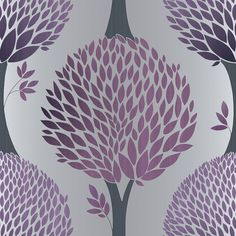 Tempo Tree Purple wallpaper by Galerie
