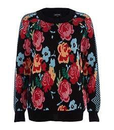 Black rose print jumper £25.00
