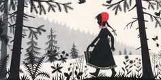 "¤ Les contes des frères Grimm - ""Little Red Riding Hood"" illustration by Divica Landrová"