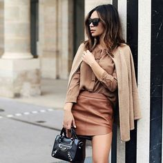 @marianna_hewitt looked stunning in a nude palette at #PFW with our #WYATT cashmere cape and mini @balenciaga handbag. Tap the link in our bio to shop them! #BlueflyxMarianna #ShopItOnTheFly #Padgram