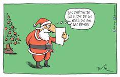 Resultado de imagen para el papa noel pensador dibujo Peanuts Comics, Humor, Caricatures, Letters, Dibujo, Papa Noel, Humour, Funny Photos, Funny Humor