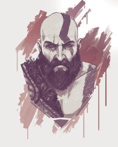 ArtStation - Kratos-GodOfWar4, Nico Fari