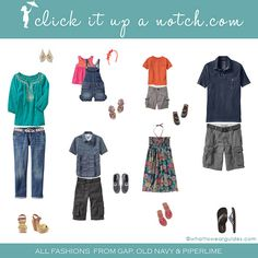 What to wear in family photos www.clickitupanotch.com