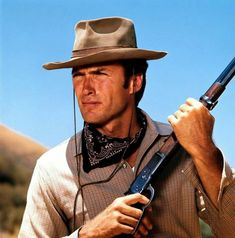 Clint Eastwood as Rowdy Yates on TV show Rawhide