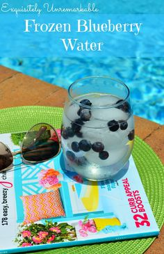 Frozen Blueberry Water by Exquisitely Unremarkable