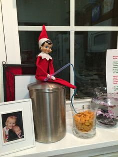 Teaching the Bible and Kindness with Elf on the Shelf.  Story of how Jesus fed thousands with just 2 fish and 5 loaves of bread.