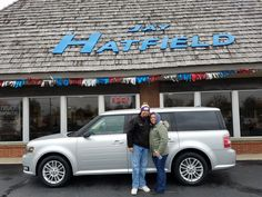 Awesome! Congratulations to Michael & silvia on your new 2014 FORD FLEX!  Thank you again, Jay Hatfield Ford and Josh Dorris.