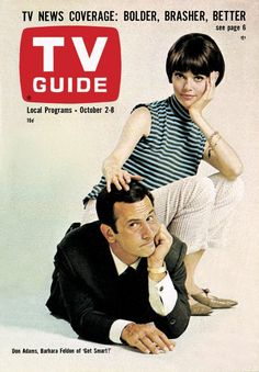 "TV Guide: October 2, 1965 - Don Adams and Barbara Feldon of ""Get Smart!"""