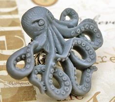 Giant Octopus Statement Ring