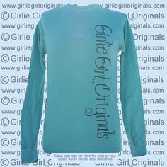 Shirt Color : Comfort Color Seafoam Long Sleeve  To order, please visit  http://www.girliegirloriginals.com/index.php?main_page=product_info&cPath=205_213&products_id=1793 Actual color may vary from the color on your screen due to monitor color restrictions