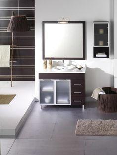mueble de baño Aloe Wengué