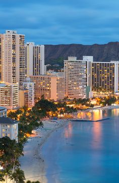 Honolulu city, Diamond Head and Waikiki Beach I loved visiting this place and doing Tai Chi on the beach at sunset every night I was there... sigh
