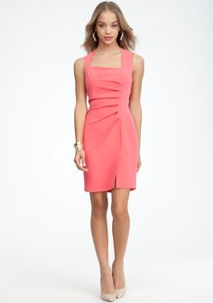 Crepe Pleated Asymmetric Dress- I love this!