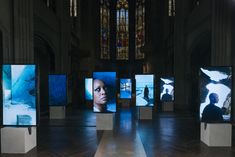 Isaac Julien presents new multiscreen video work during Art Basel as part of the Rolls-Royce Art Programme Museum Exhibition Design, Exhibition Display, Exhibition Space, Design Museum, Interactive Walls, Interactive Installation, Installation Art, Lightbox Art, Photo Exhibit
