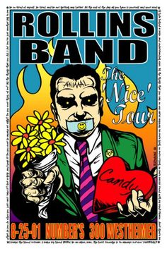 Rollins Band rock poster