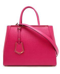 FENDI    2 Jour Grained Leather Shopper Bag