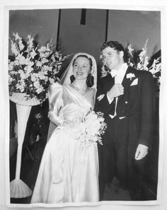 Audie Murphy and Wanda Hendrix  January 8, 1949
