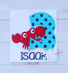 Crab Number Set 1-9  Applique Design - pinned by pin4etsy.com