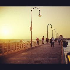 My photo of St Kilda Pier, Melbourne, Victoria — put through Instagram.    See the rest of my photography portfolio on RedBubble: http://www.redbubble.com/people/felinemind